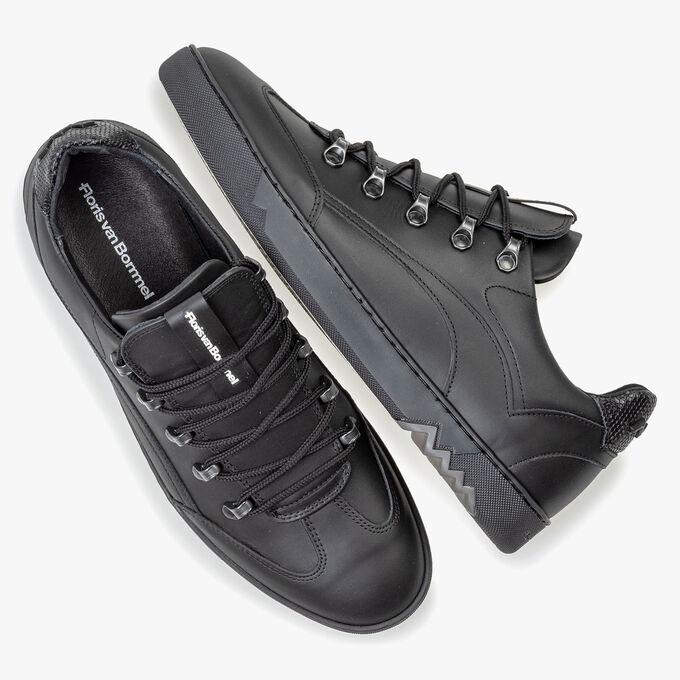 Sneaker zwart leer