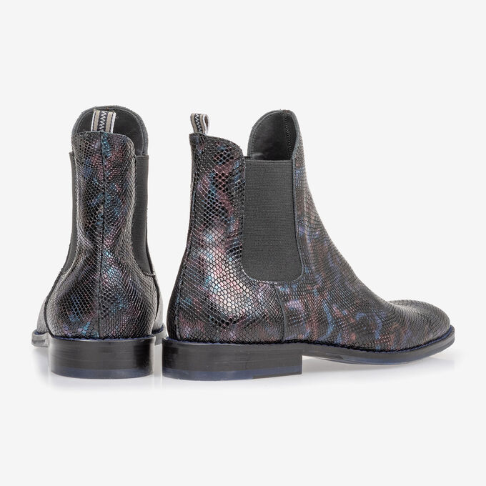 Chelsea boot croco print blue