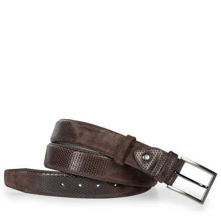 Floris van Bommel suede leather men's belt