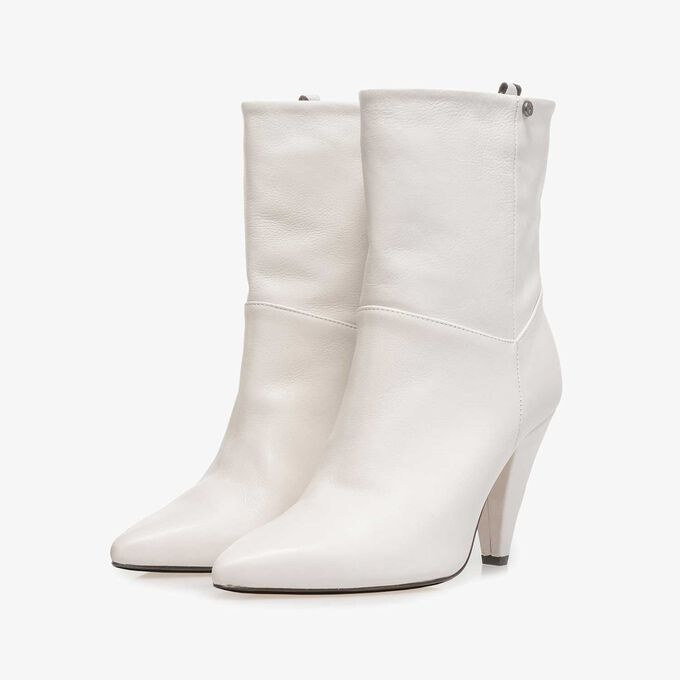 Off-white nappa leather high boots