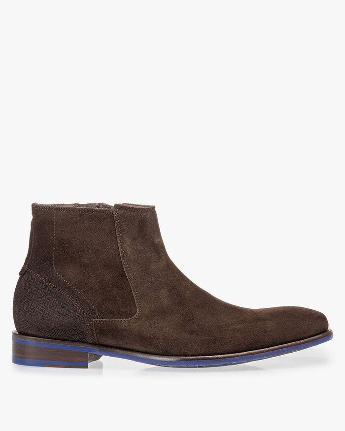 Chelsea boot bruin suède