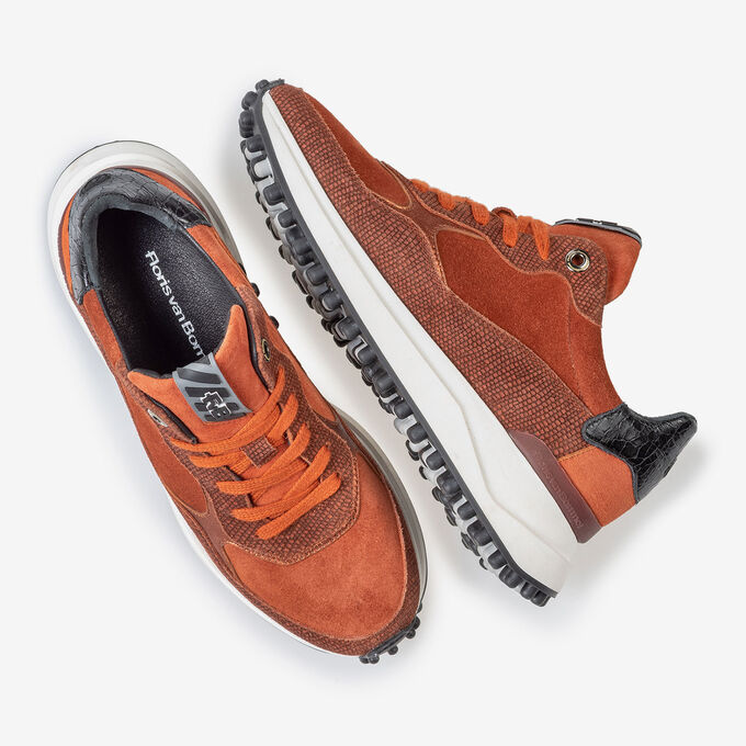 Noppi sneaker suede leather brown