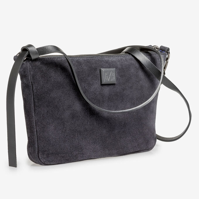 Black suede leather bag