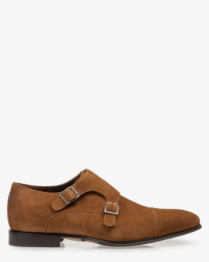 Monk strap suede brown