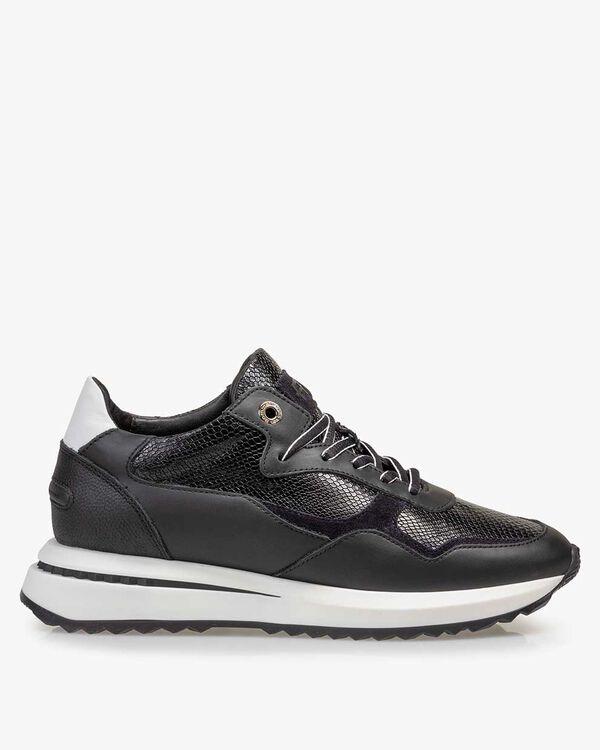 Sneaker reptielenprint zwart