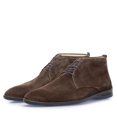 Suede leather lace boot