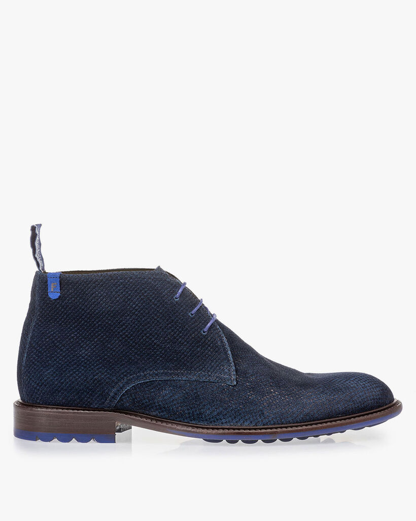 Boot donkerblauw met print