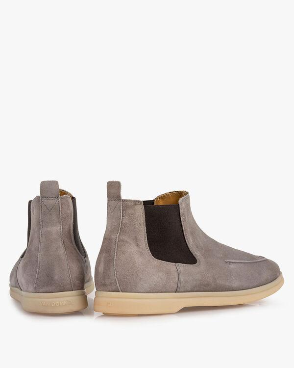 Chelsea boot suède grijs