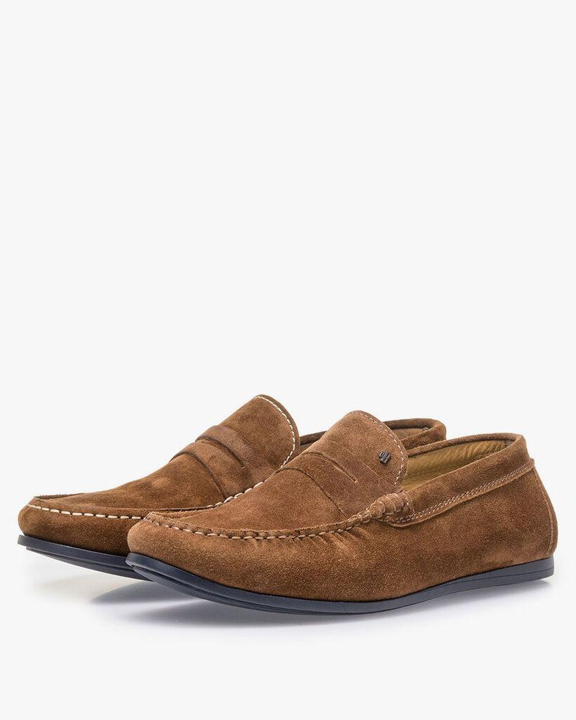 Bruine suède loafer
