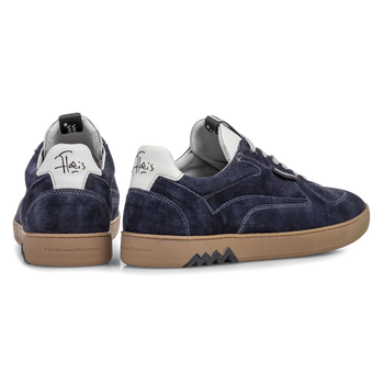 Sneaker suède donkerblauw