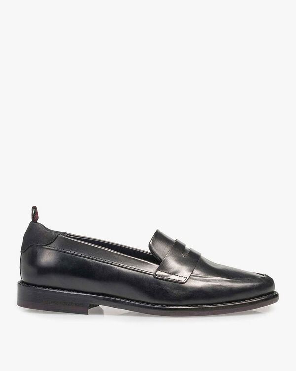 Zwarte kalfsleren loafer