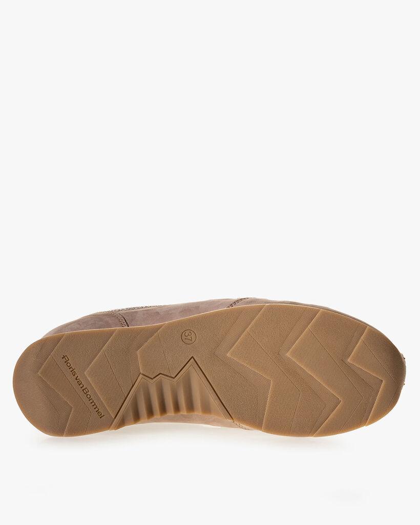 Sneaker nubuckleer beige