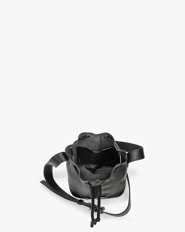 Bucket bag kalfsleer zwart