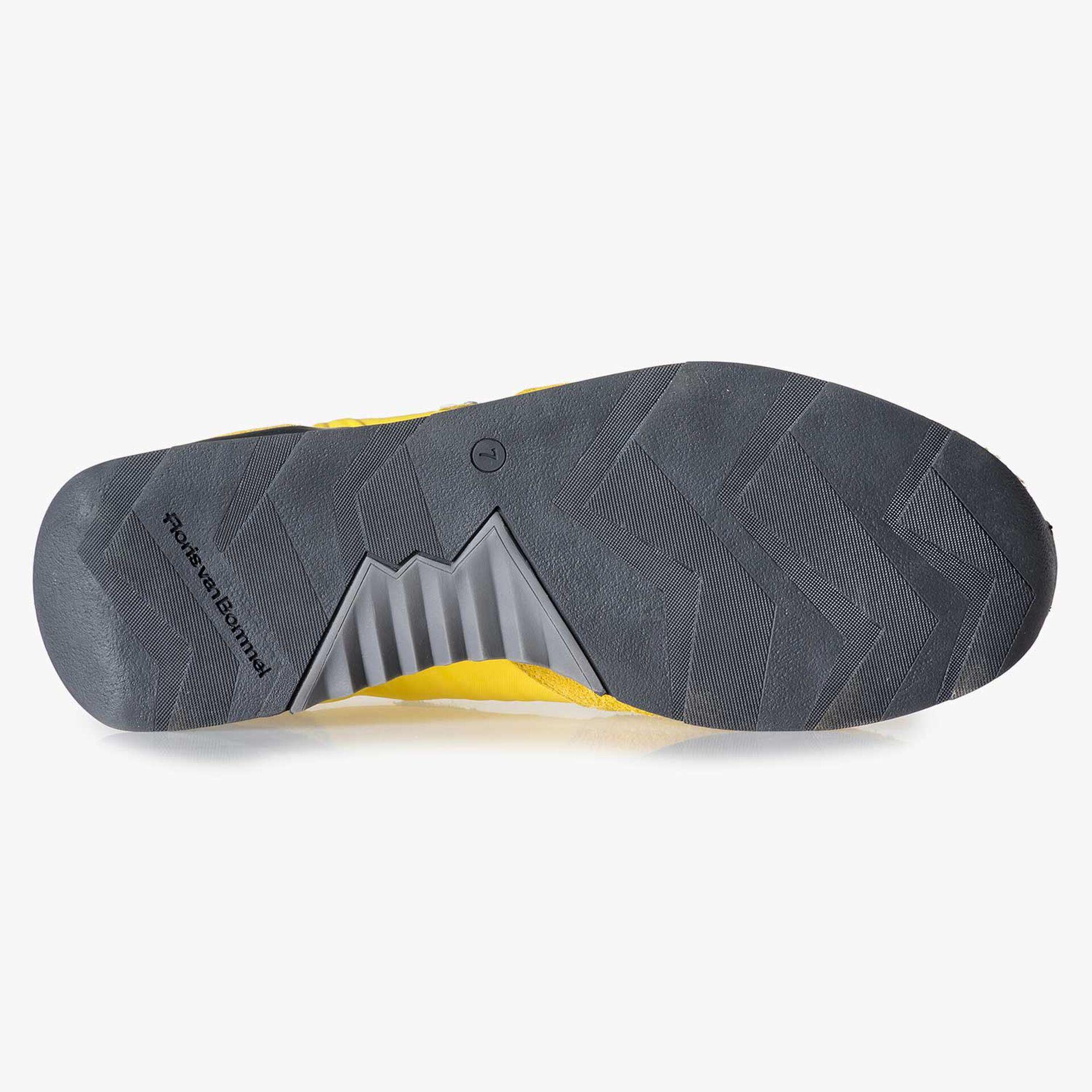 Suède sneaker geel/zwart