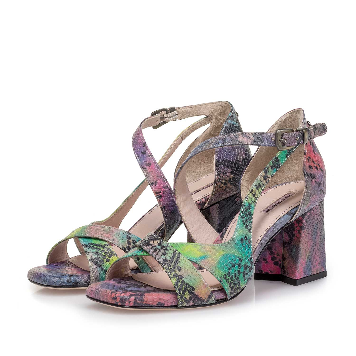 85919/03 - Purple snake print leather sandal