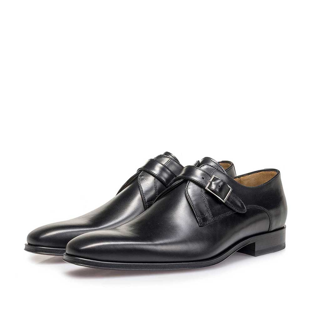 12099/01 - Black calf leather monk strap