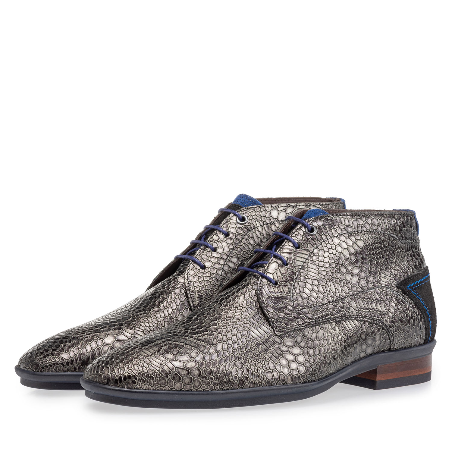 20440/34 - Lace boot with print grey