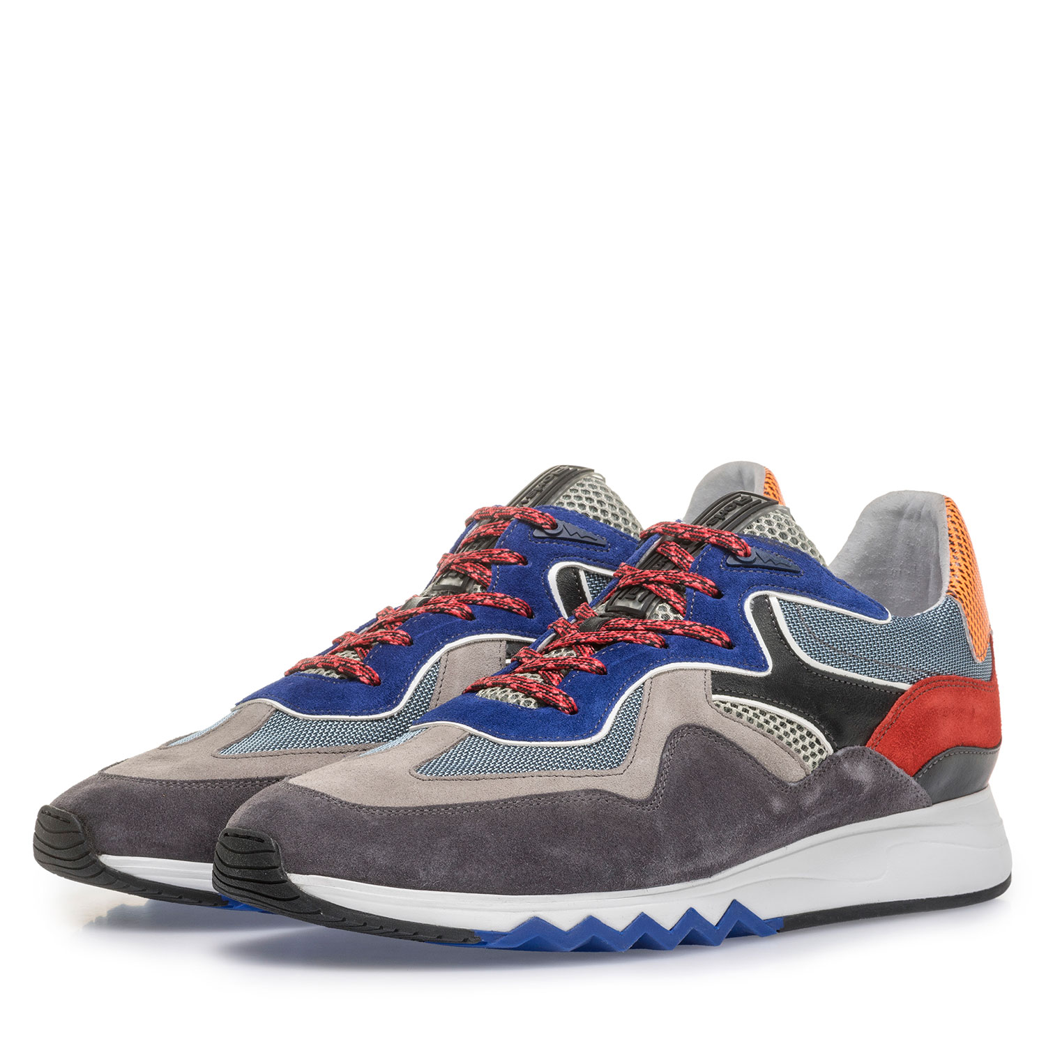 16290/03 - Multi-colour sneaker with blue details