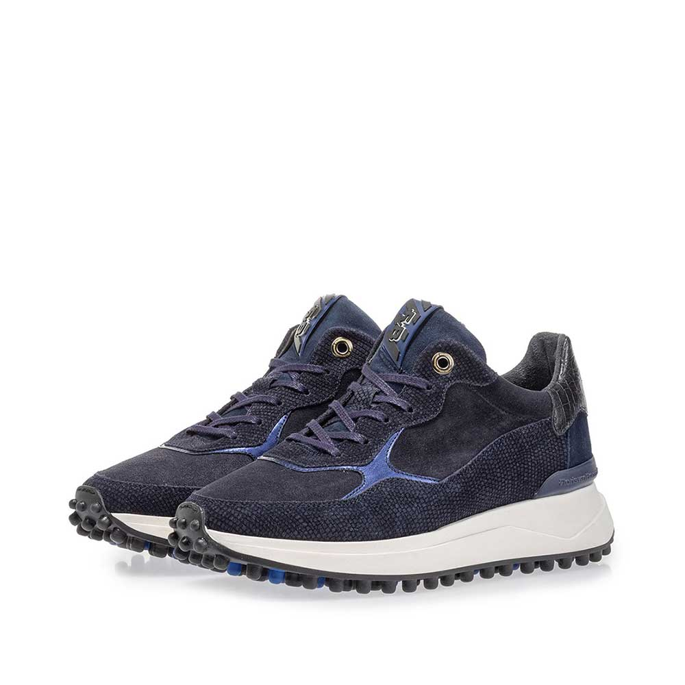 85307/05 - Noppi sneaker suede leather blue