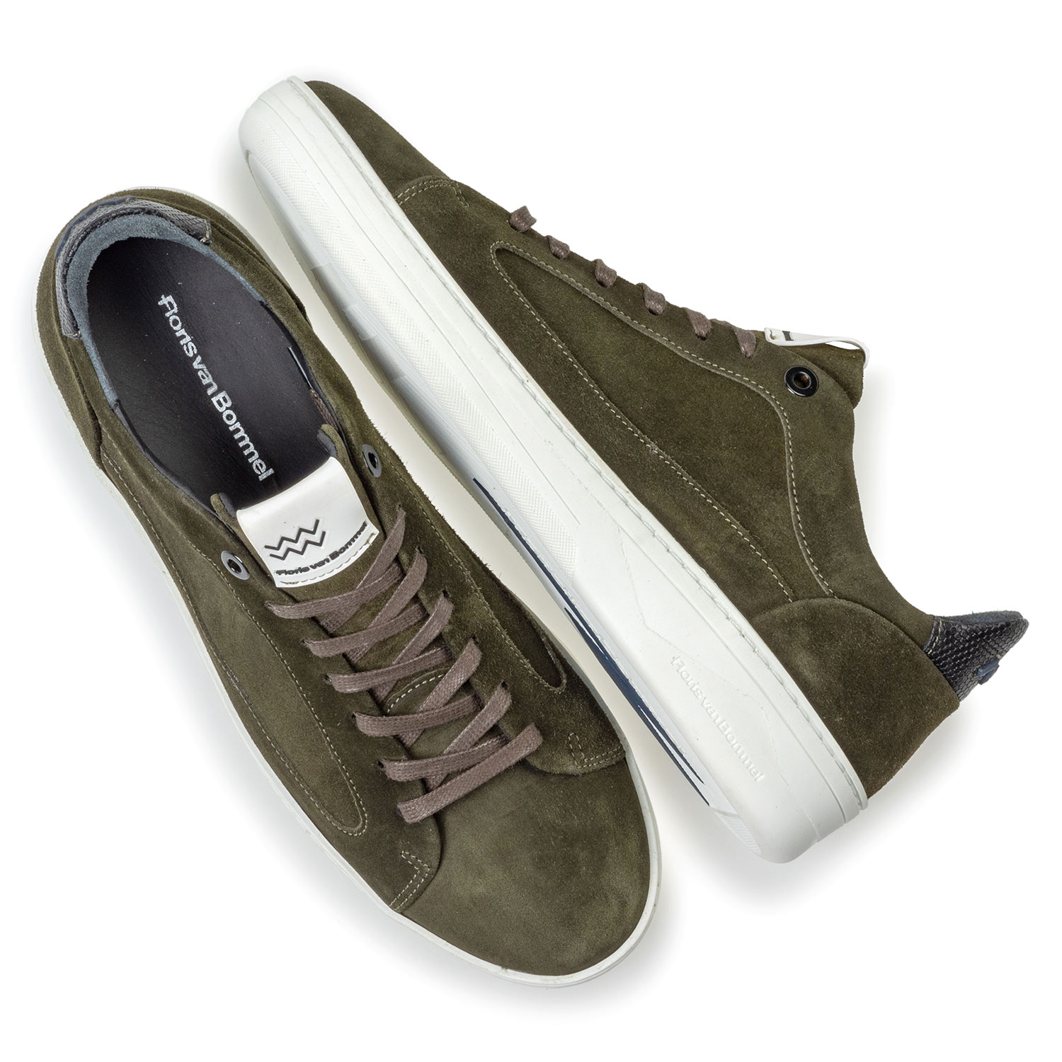 13265/30 - Sneaker suede leather green