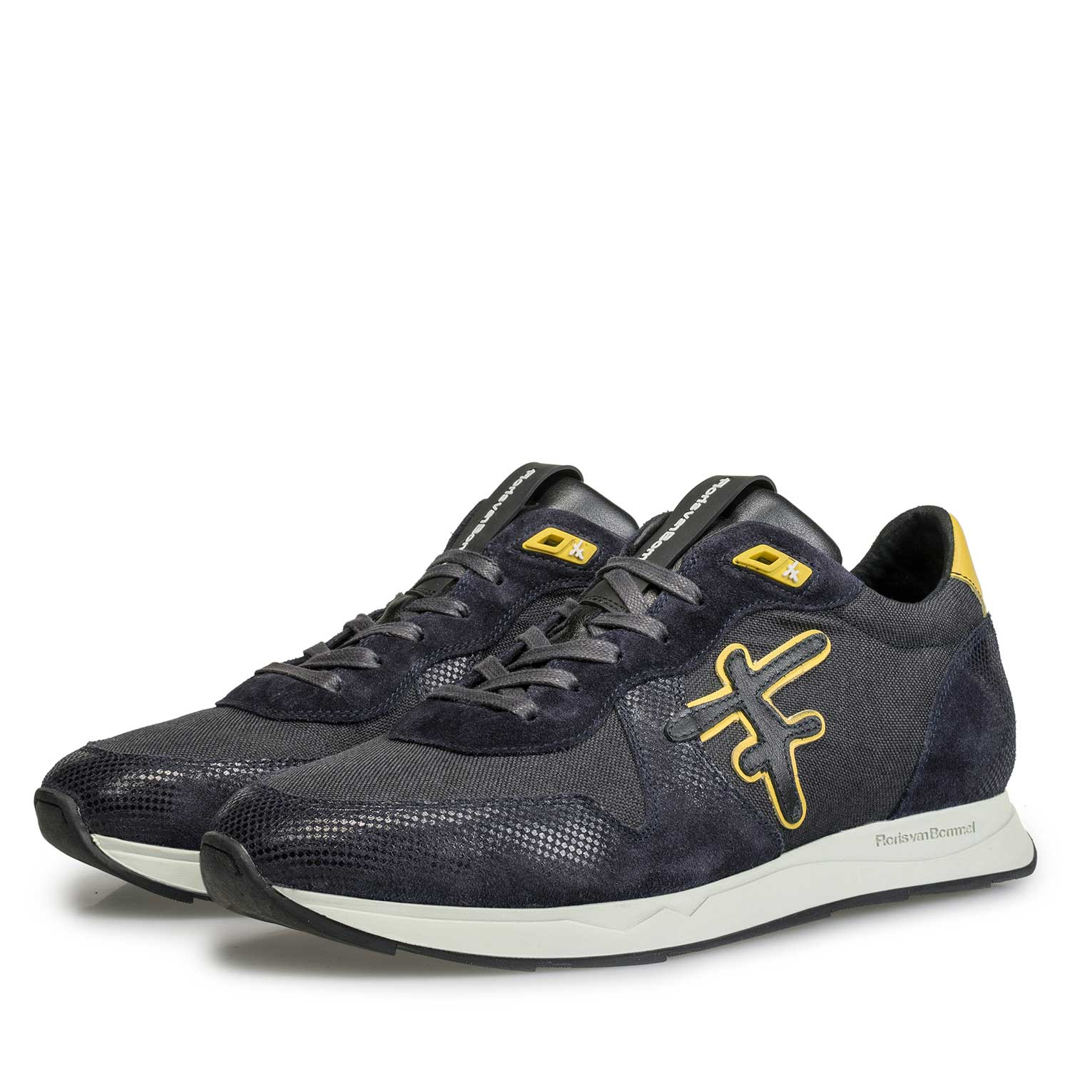 16226/01 - Blue / grey sneaker with yellow details
