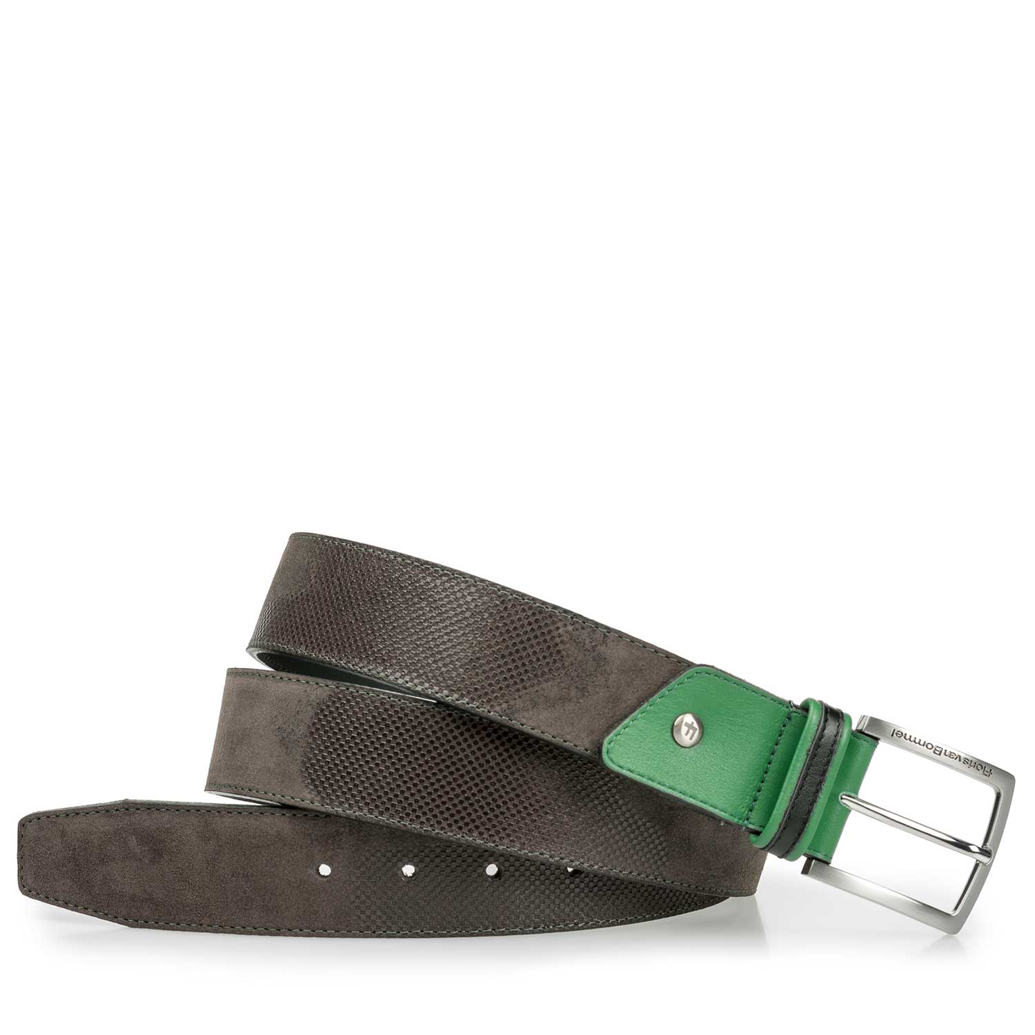 75193/02 - Blue/ Green canvas belt with green accents