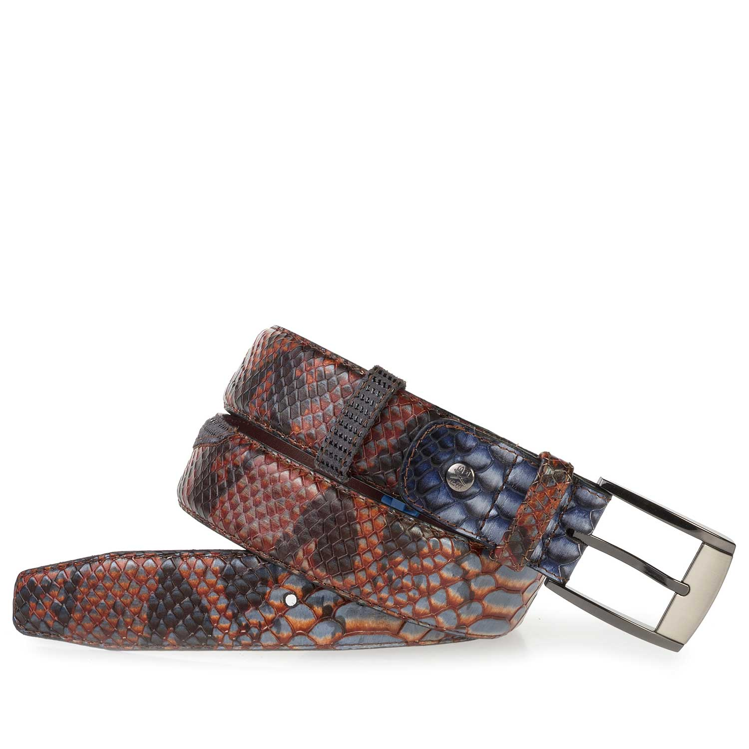 75176/06 - Calf's leather belt with a snake print