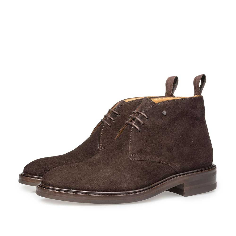 10161/00 - Dark brown suede leather lace boot
