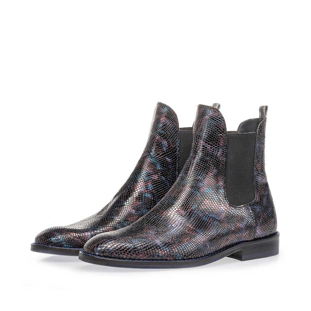 85668/00 - Chelsea boot croco print blue
