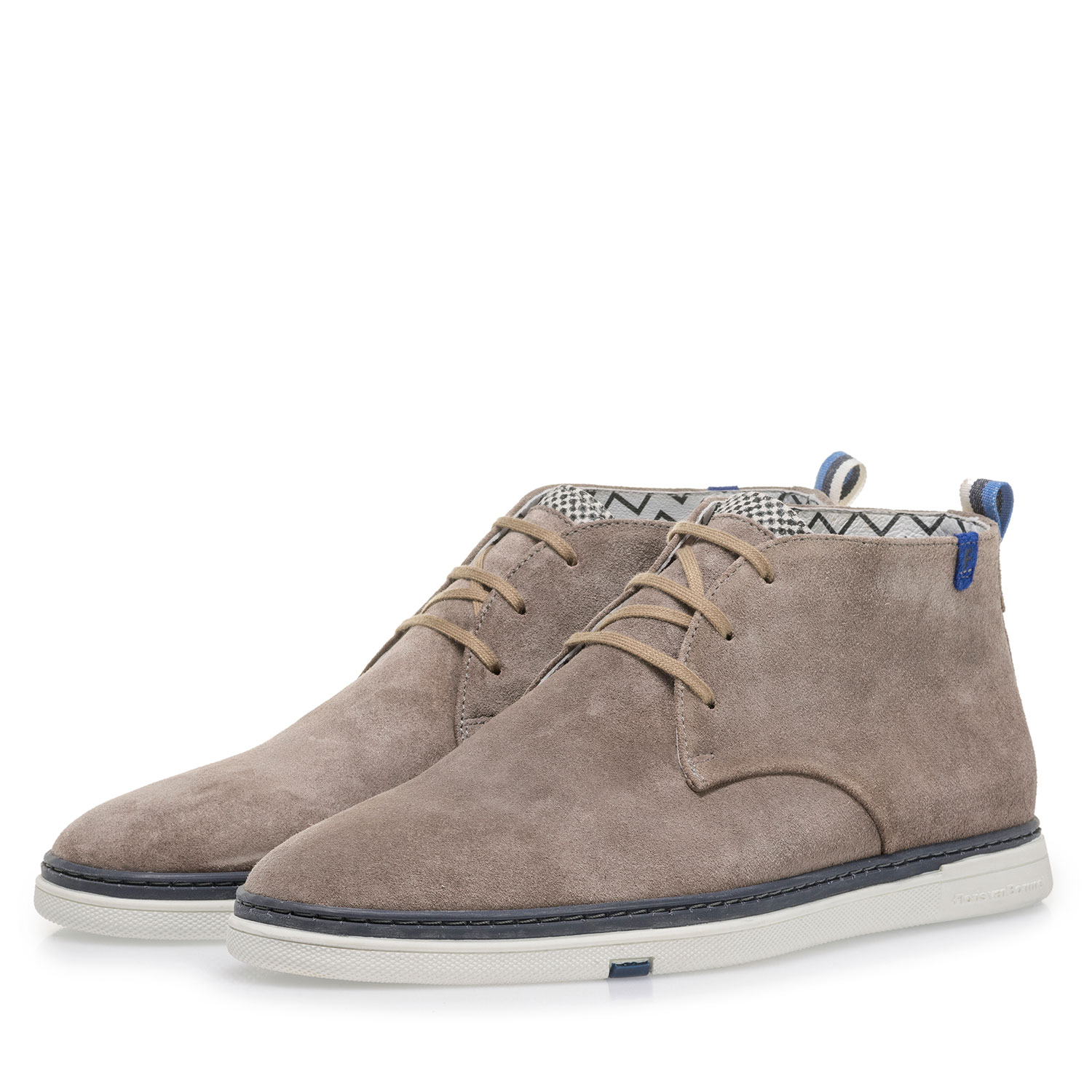 10502/08 - Taupe-coloured suede leather lace boot