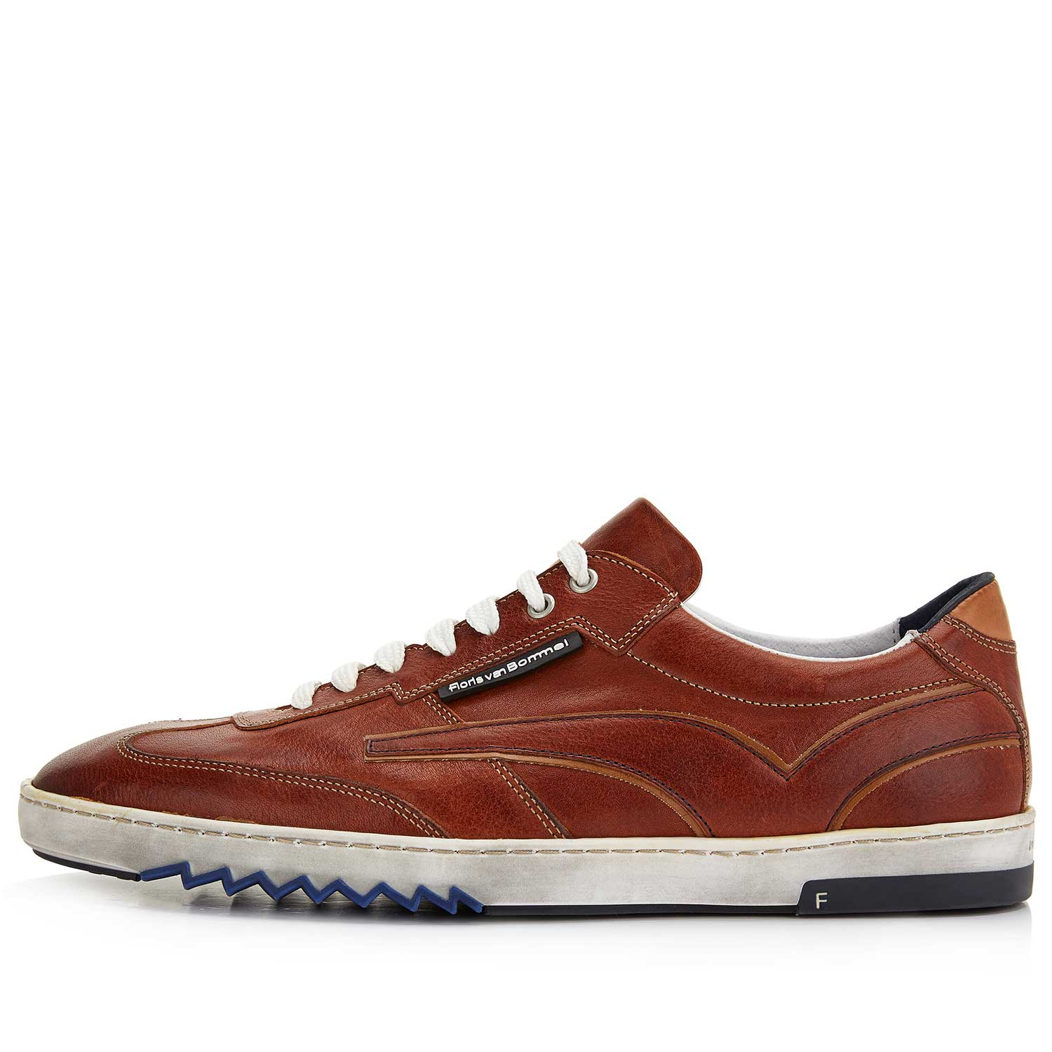 16074/02 - Cognac-coloured leather sneaker