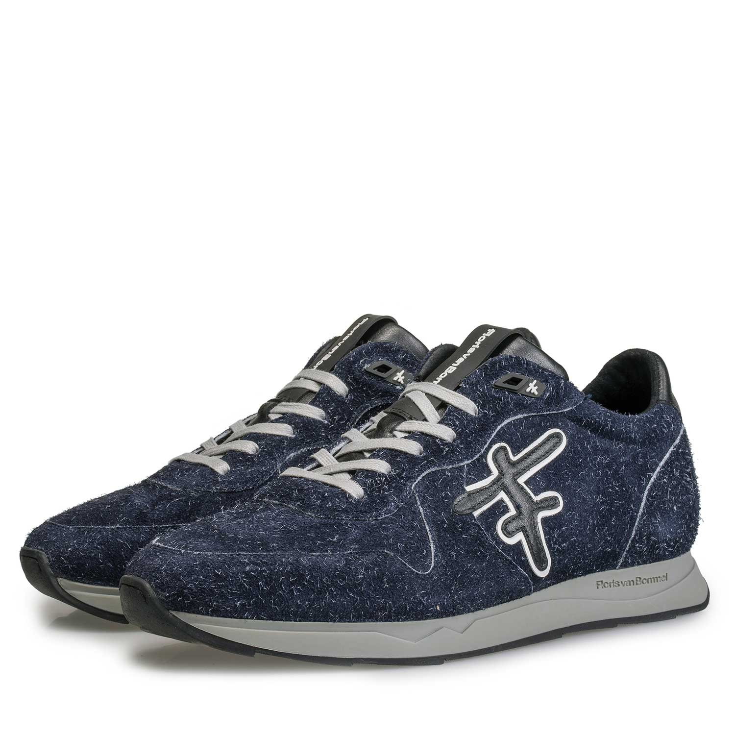 16226/09 - Blue Sneaker made of rough-haired suede leather