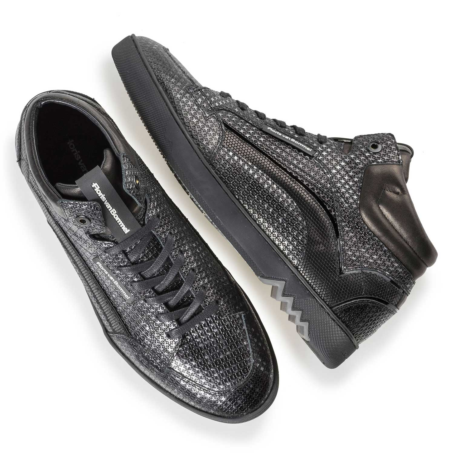 10200/09 - Mid-high silver-coloured sneaker