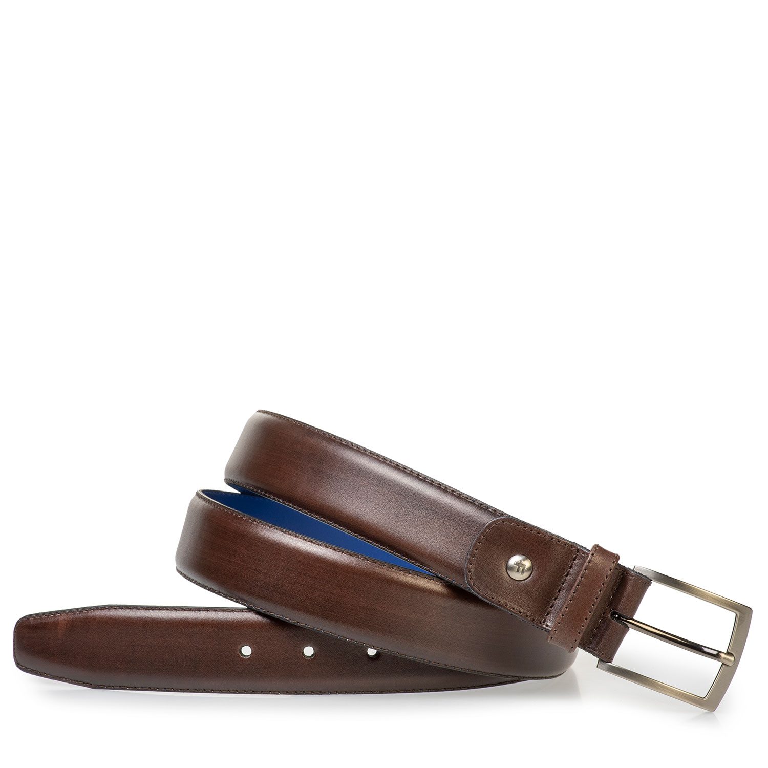 75144/03 - Darkbrown belt made of calf's leather