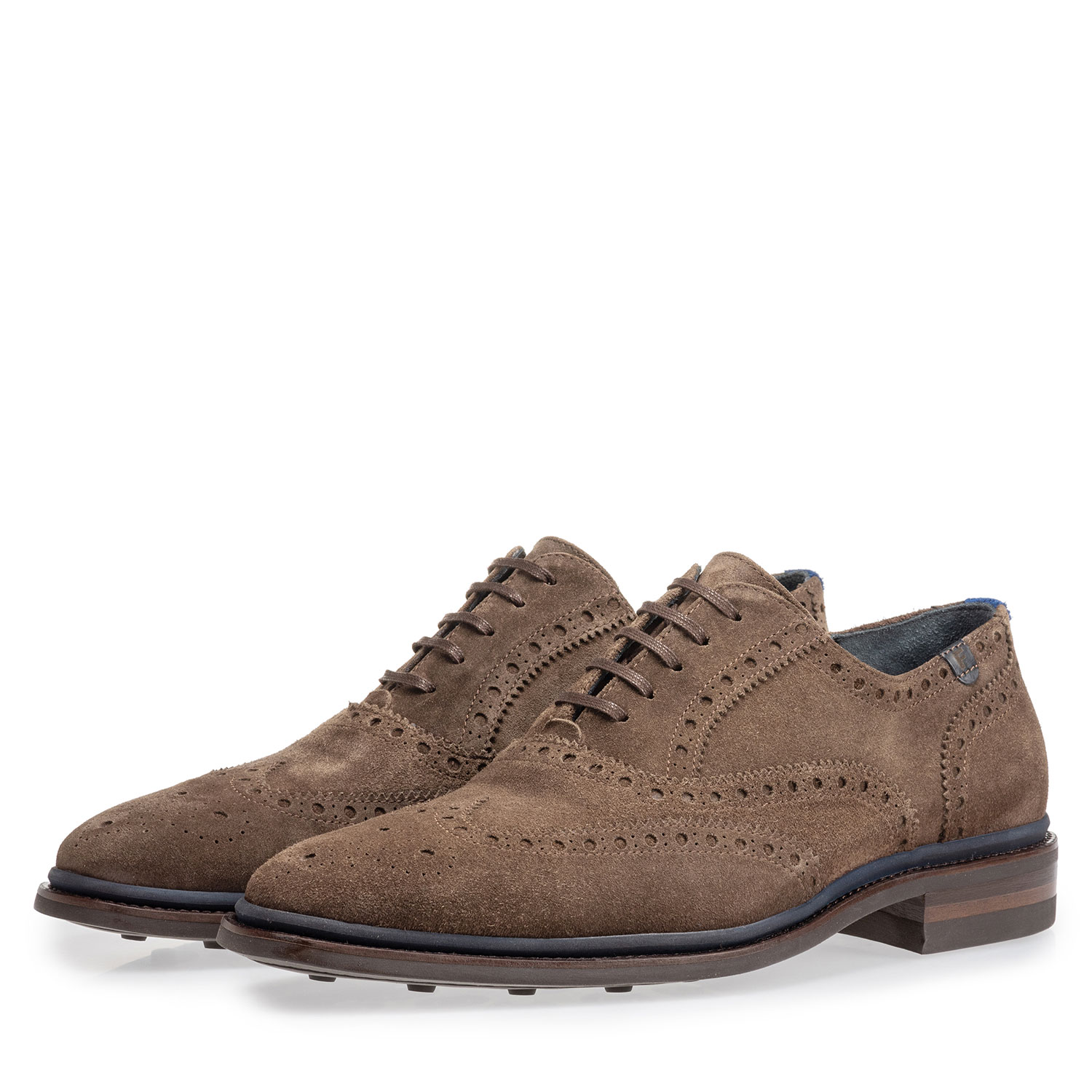 19172/03 - Brogue suède donker taupe