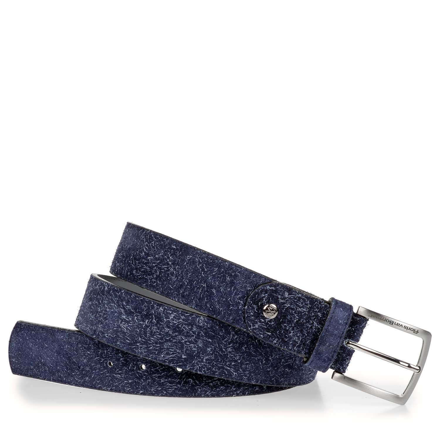 75191/01 - Belt made of blue rough-haired suede leather