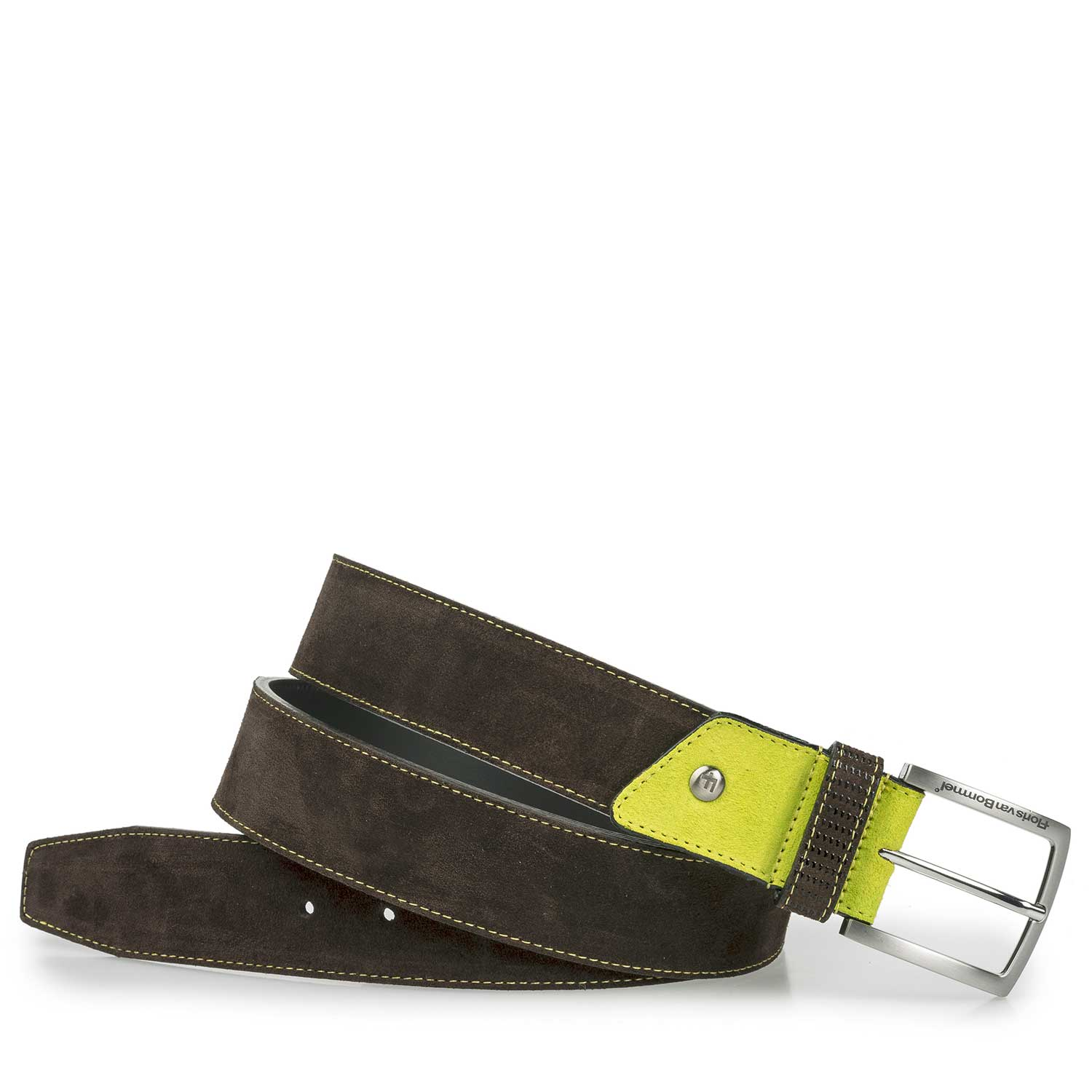 75192/00 - Brown belt with yellow details