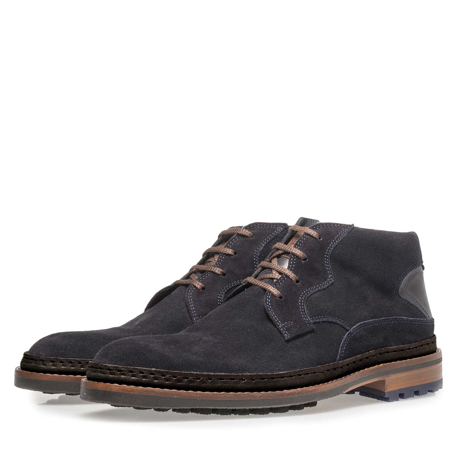 10509/02 - Dark blue suede lace boot