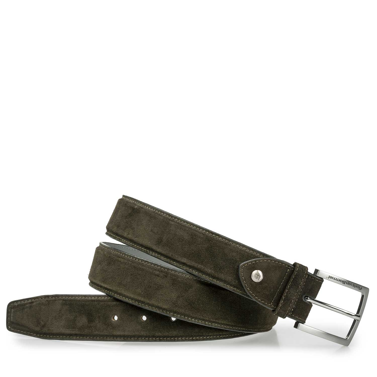 75189/27 - Green suede leather belt