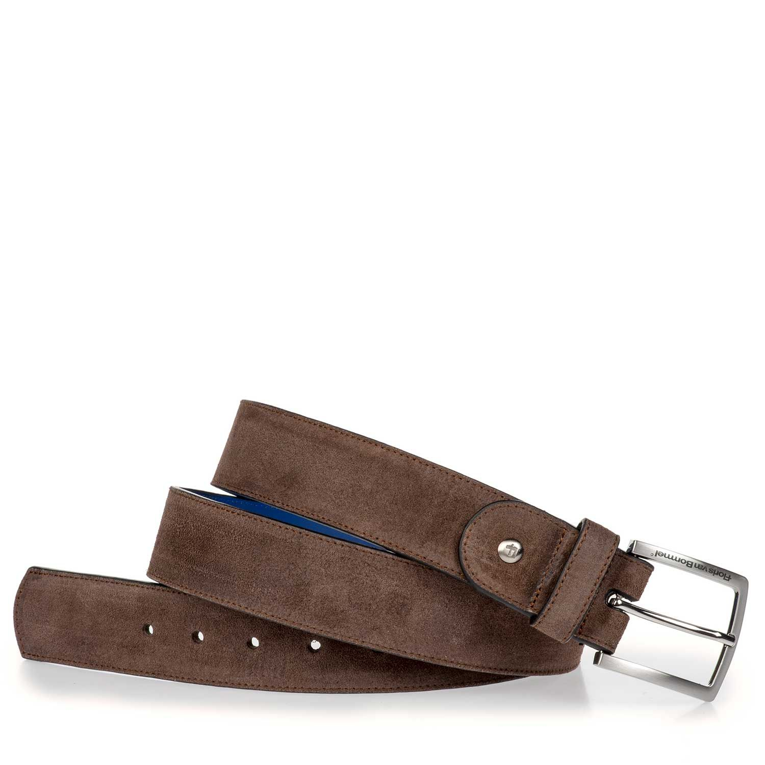 75166/08 - Dark brown suede leather belt