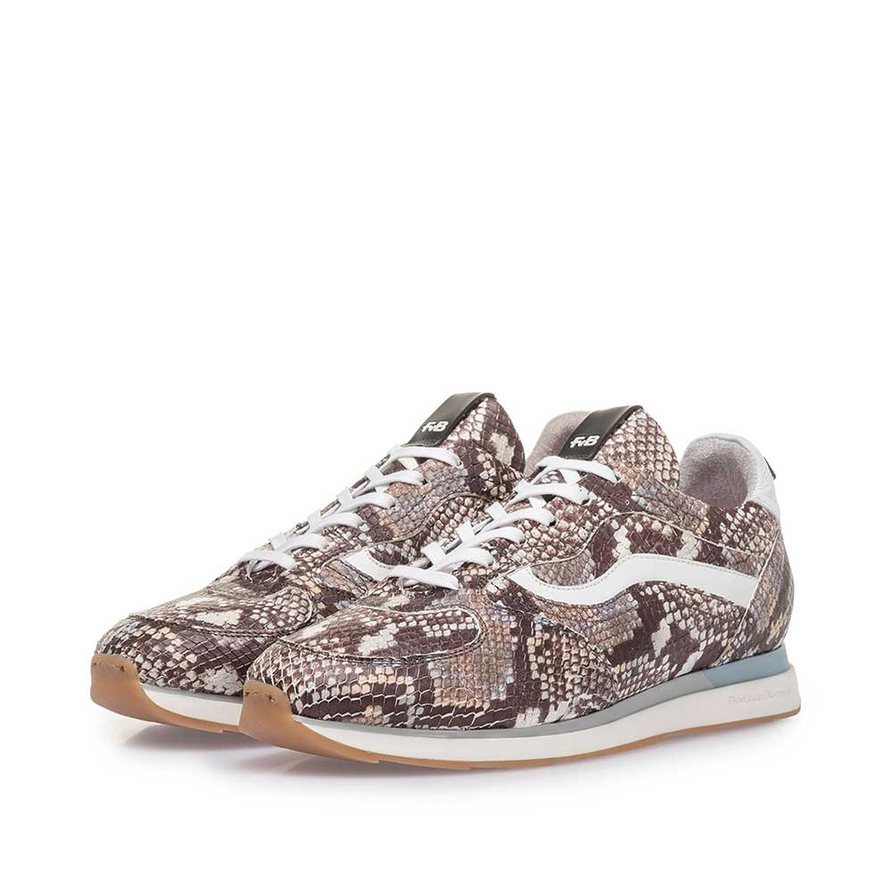 85279/15 - Brown and white sneaker with snake print