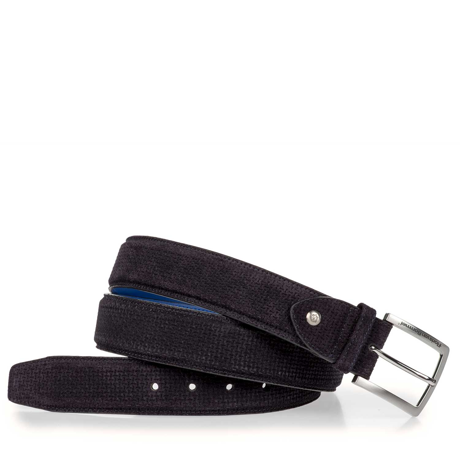 75189/18 - Suede leather belt with subtle structural pattern