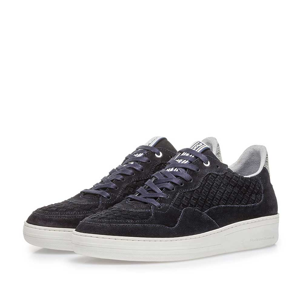 16265/00 - Dark blue suede leather sneaker