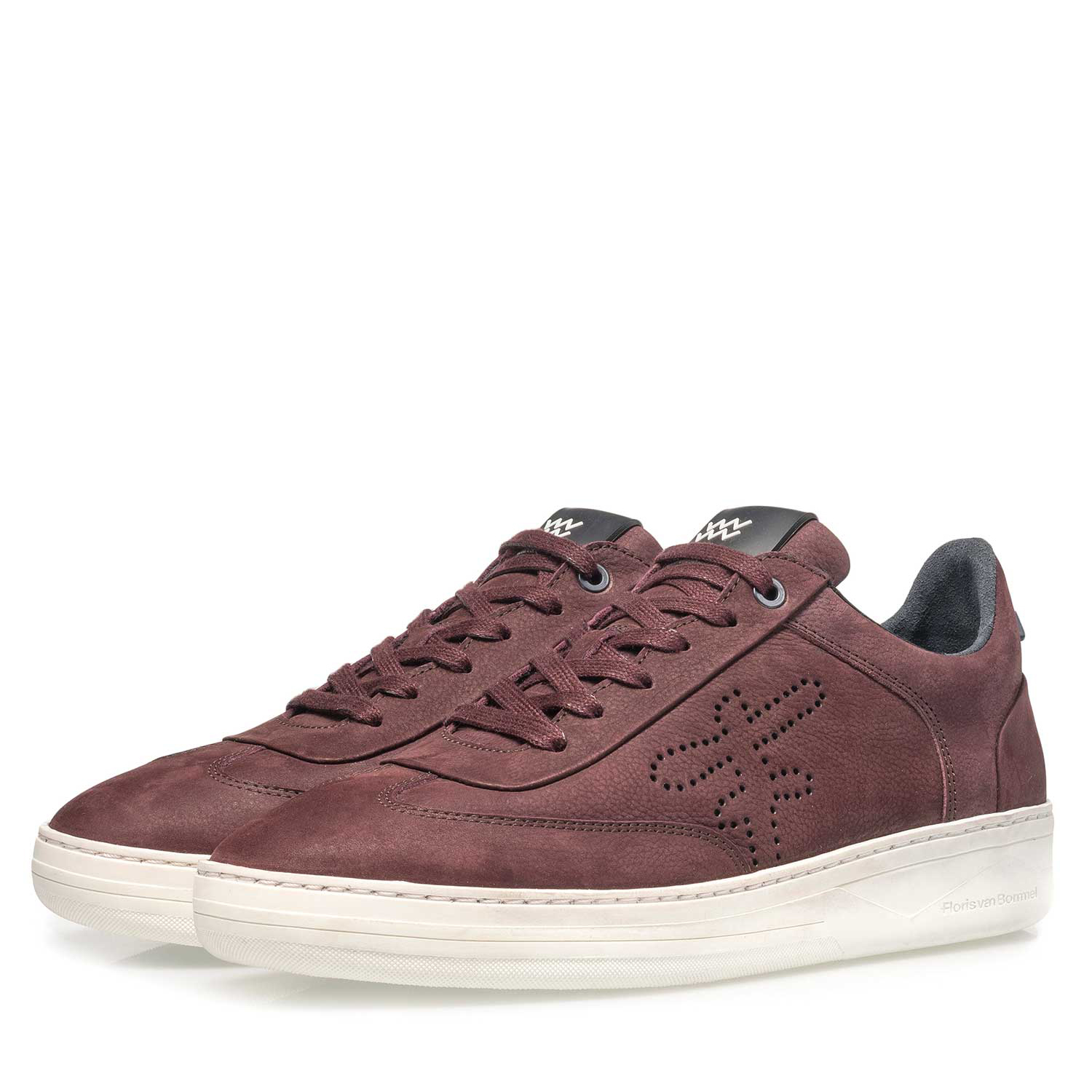 16255/10 - Red printed nubuck leather sneaker