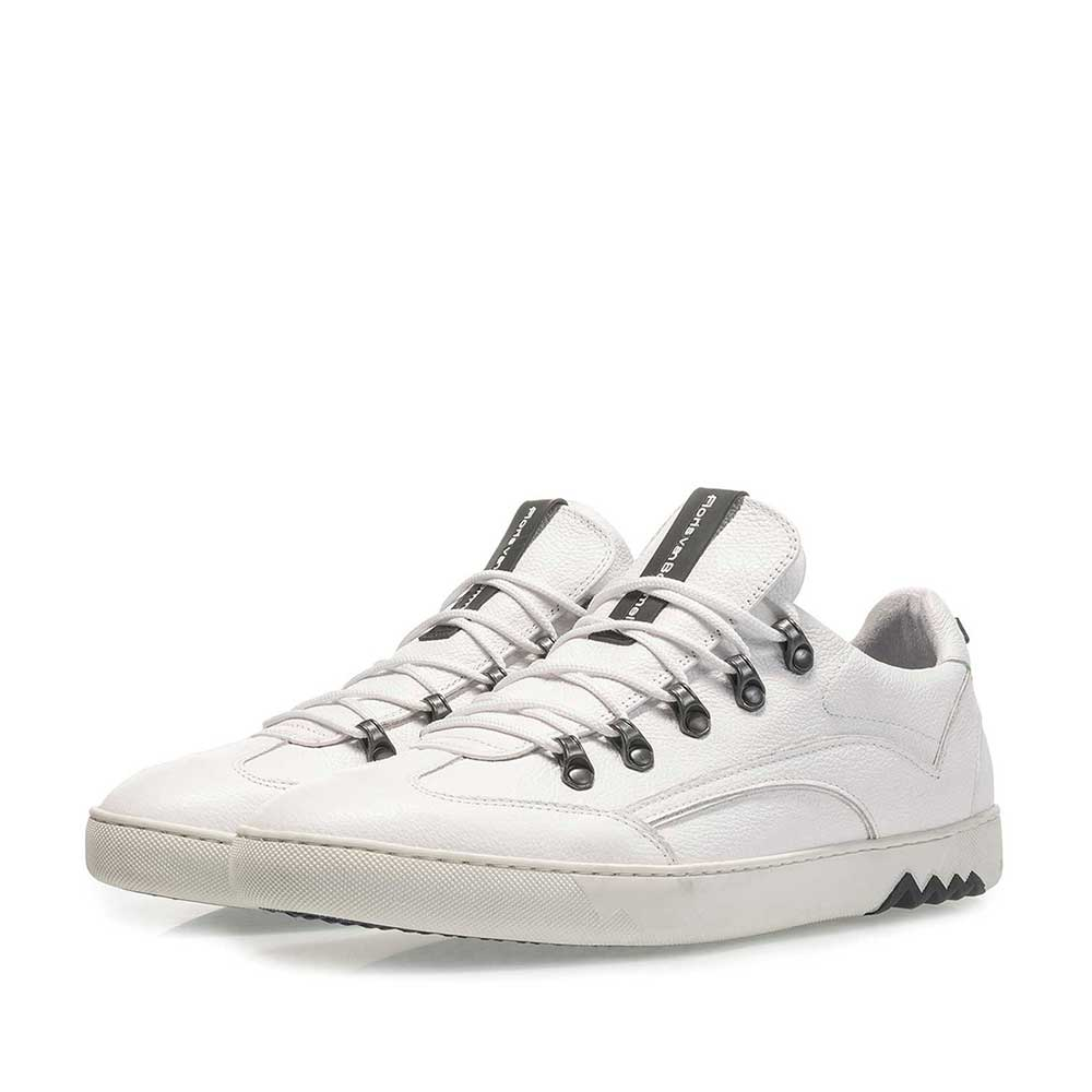 16464/14 - White nubuck leather sneaker with fine texture