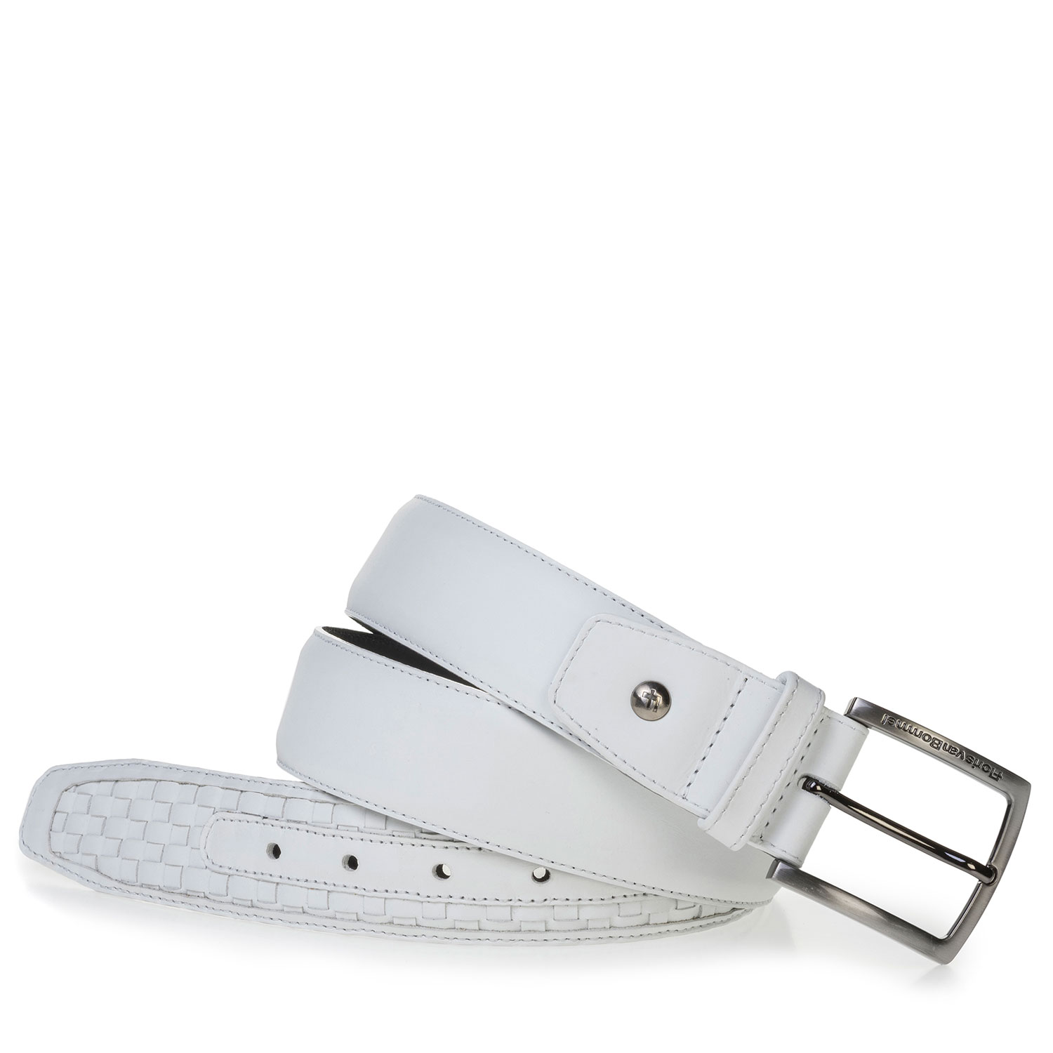 75159/32 - White braided leather belt