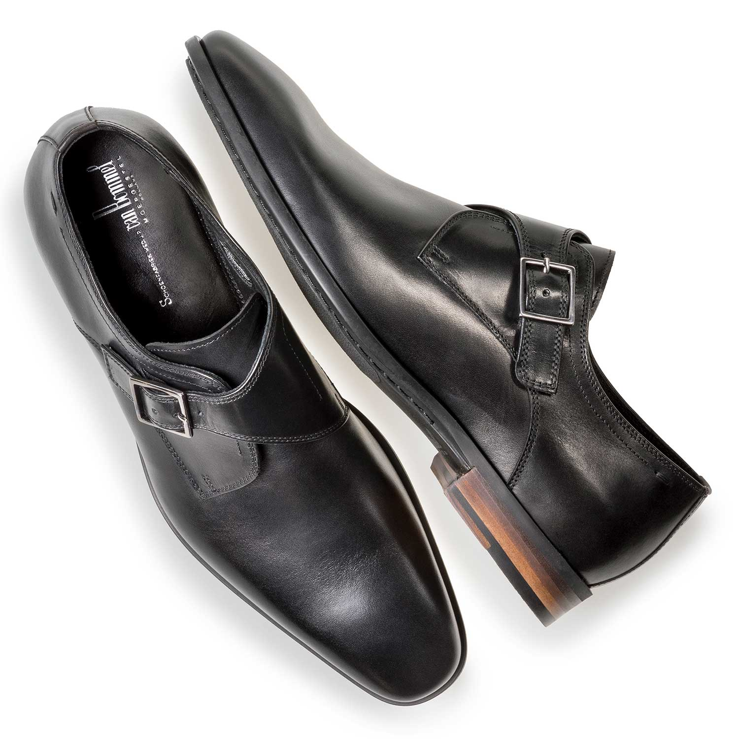 12341/05 - Black calf leather monk strap