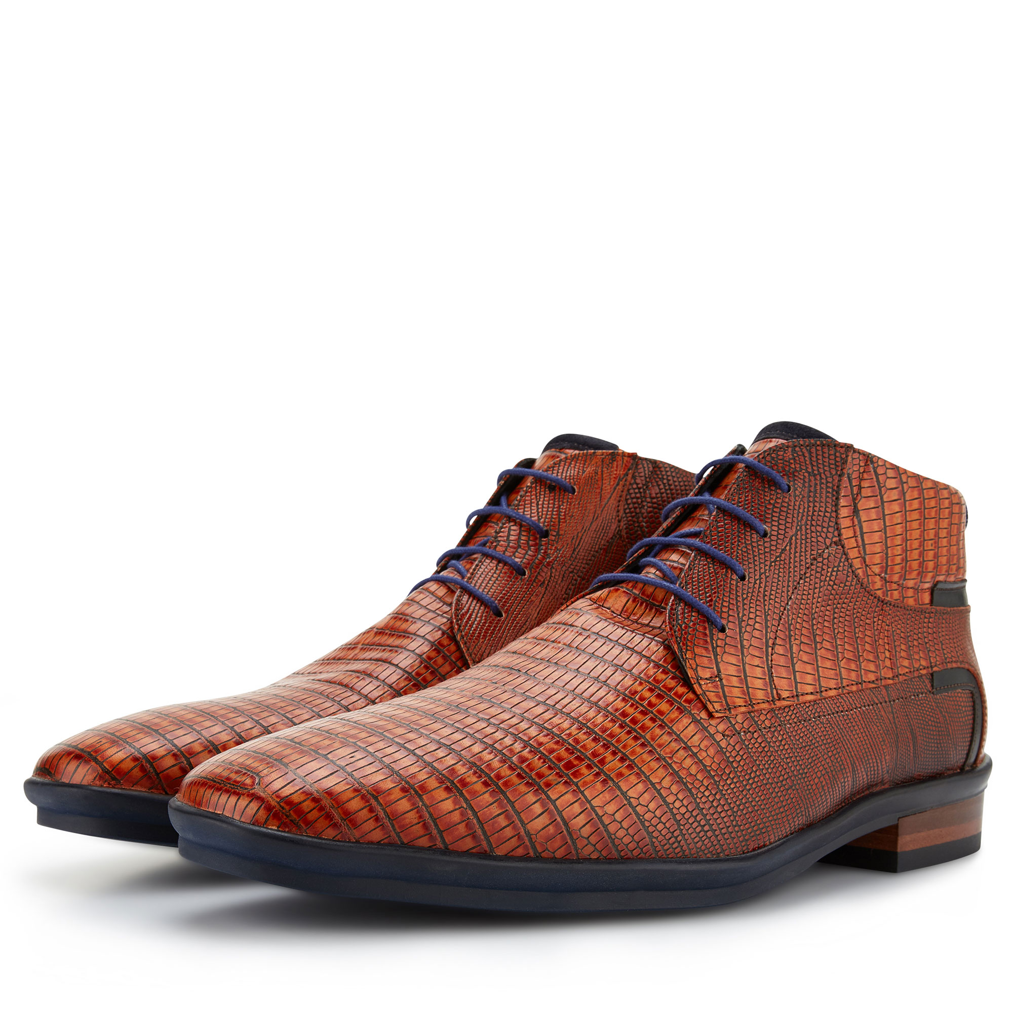 10879/00 - Cognac lizardprint veterboot