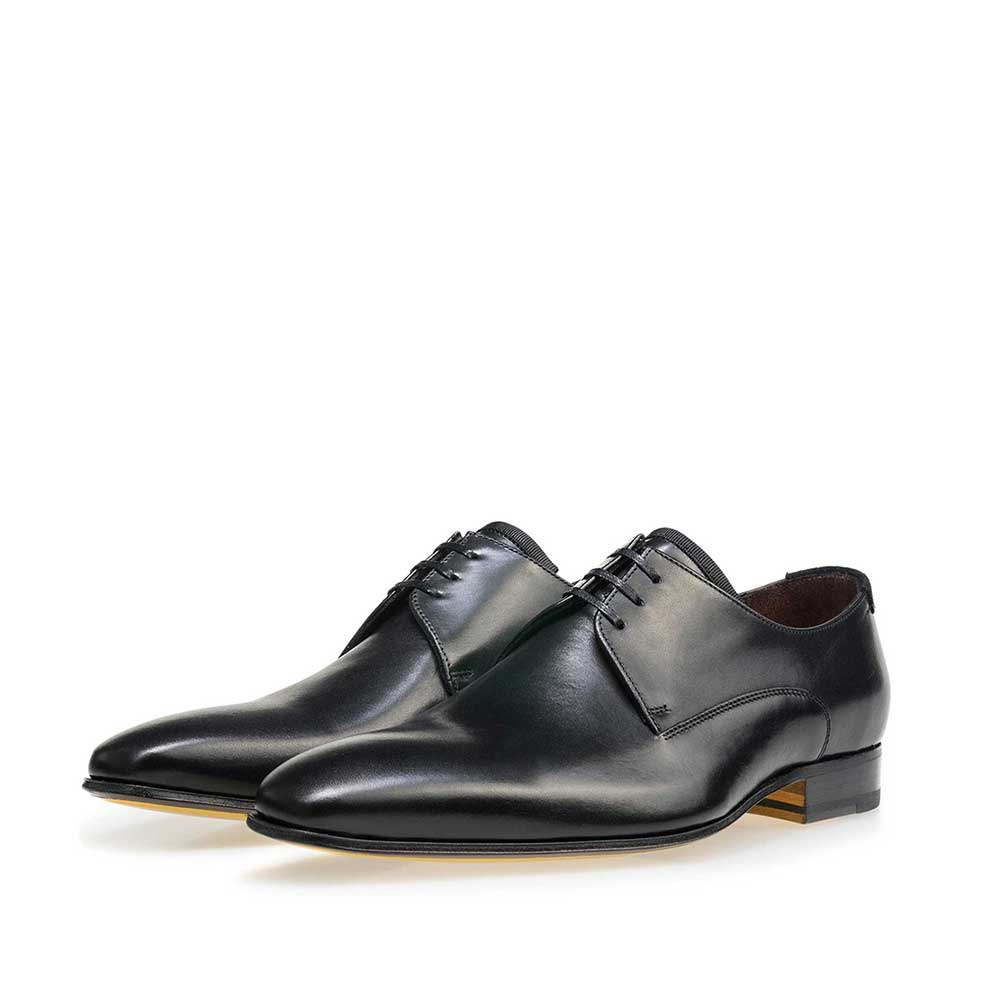 14095/03 - Floris van Bommel black leather men's lace-up shoe