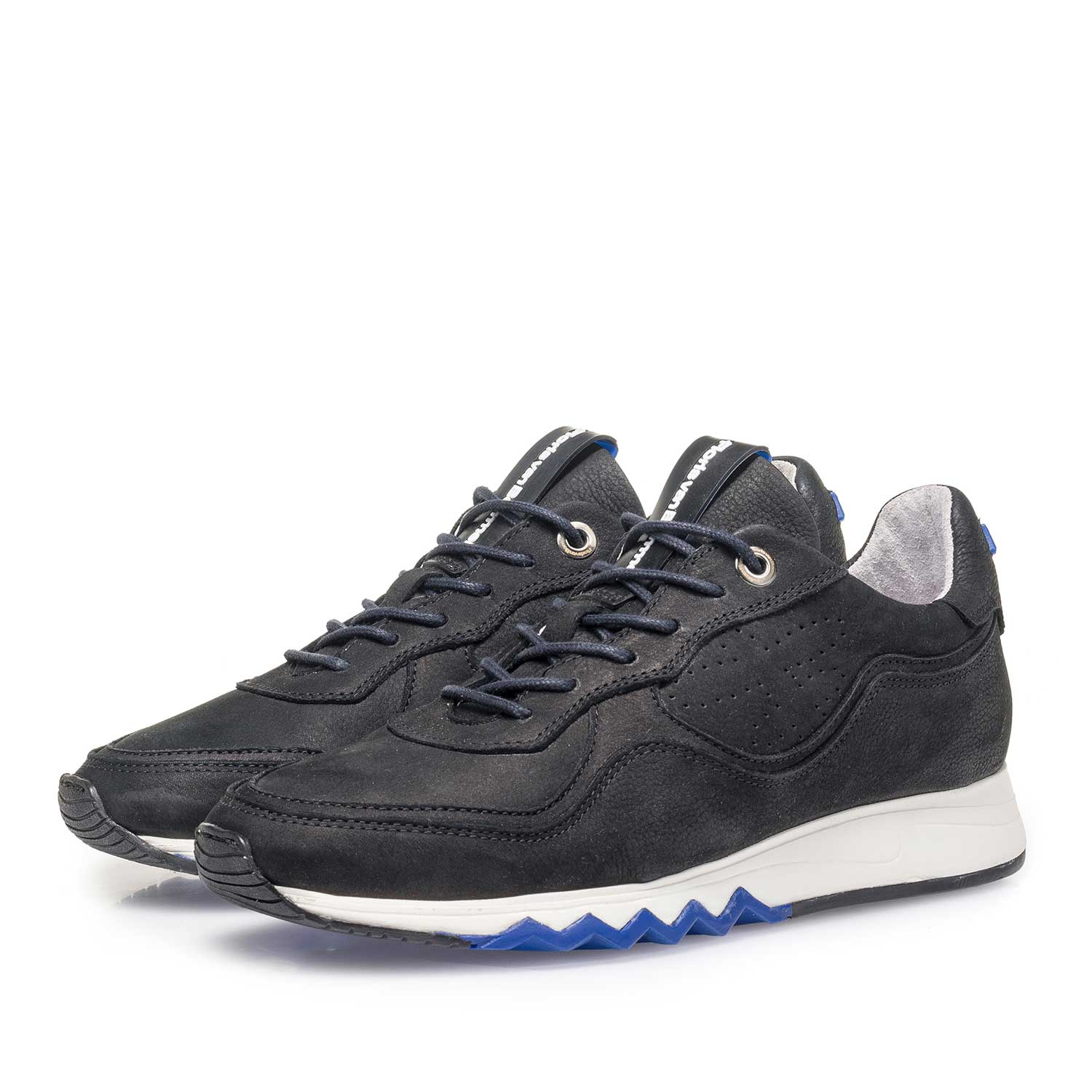 85265/02 - Black structured nubuck leather